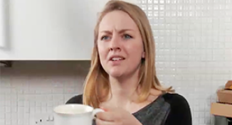 Image of Rose talking to Daniel in the kitchen